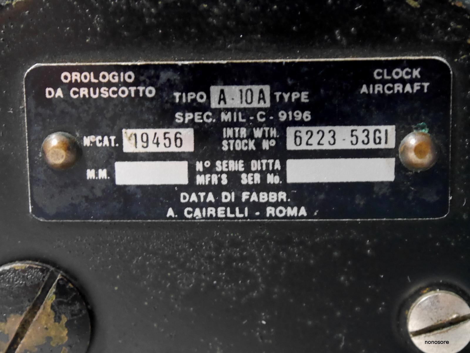 Horloges d'avions italiennes de la seconde guerre mondiale 5